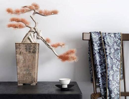 新中式, 盆栽, 植物盆栽