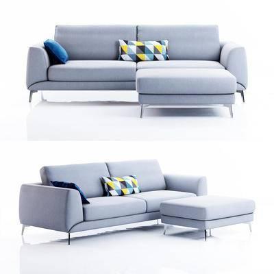 双人沙发, 沙发凳, 现代