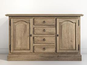 欧式简约, 实木, 斗柜, 柜