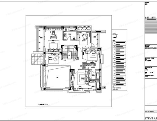 CAD, 施工图, 大师, 室内, 别墅, 平面, 立面, 下得乐3888套模型合辑