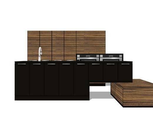 橱柜, 厨房, 厨柜, 现代