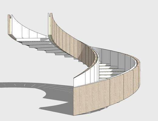 现代, 高端, 旋转楼梯, 简约