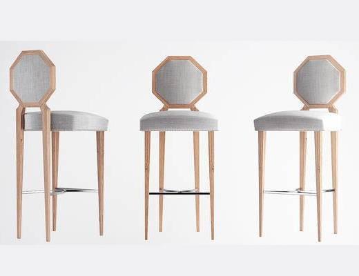 美式简约, 椅子, 美式椅子, 吧椅, 下得乐3888套模型合辑