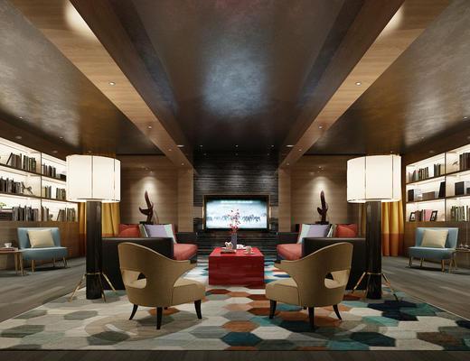 会客厅, 客厅, 沙发组合, 沙发茶几组合, 会客区, 洽谈区