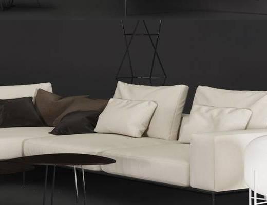 工业风格, 白色, 多人沙发