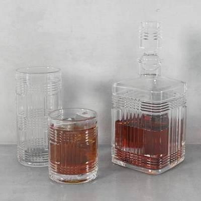 摆件, 现代, 玻璃杯, 酒杯