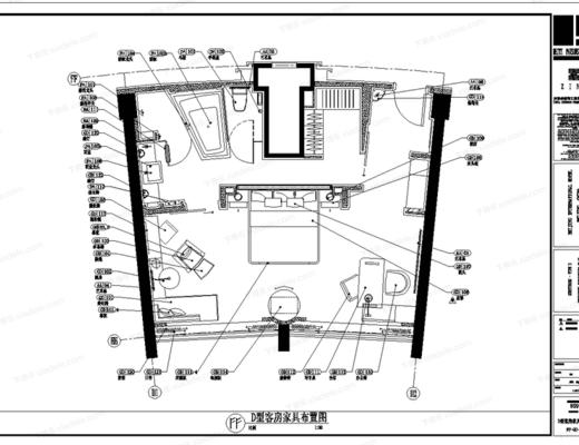 CAD, 施工图, 工装, 酒店, 平面, 立面, 大样