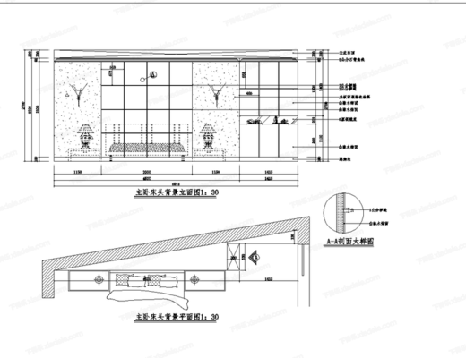 CAD, 模块, 图库, 背景墙, 立面图, 大样
