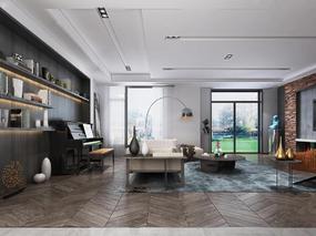 美式客厅, long8.cc龙8国际pt娱乐客厅, 客厅, 沙发茶几组合, 桌椅组合