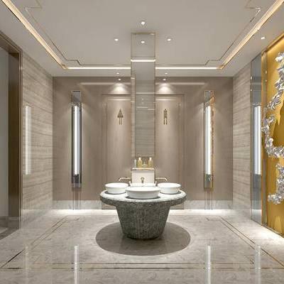 卫生间, 壁灯, 洗手台, 现代