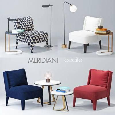 现代简约, 沙发, 茶几, 落地灯, 下得乐3888套模型合辑