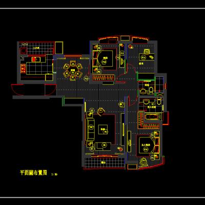 CAD施工图, 家装, 平面图, 立面图, 大师, 下得乐3888套模型合辑