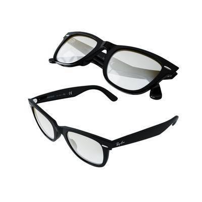 现代, 眼镜, 配饰, 3D
