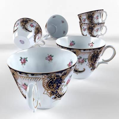杯子, 碟子, 茶杯