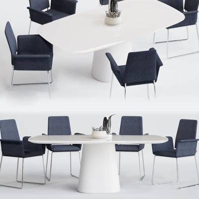 现代, 餐桌, 桌椅组合
