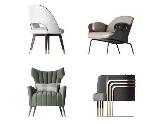 现代, 沙发, 单人沙发