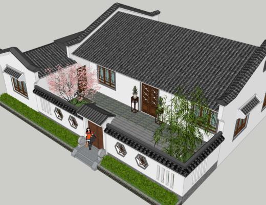 古建, 中式, 住宅, 四合院