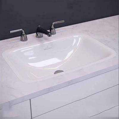 洗手盆, 现代, 洗手台
