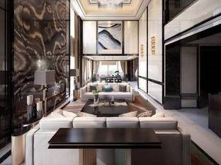 现代复式别墅客厅3D模型4_3d模型