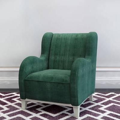 单人沙发, 简欧