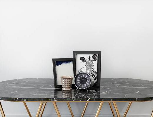 摆件组合, 相框, 桌子, 现代