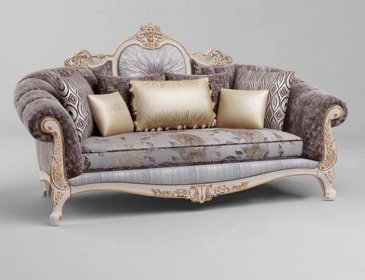 欧式简约, 沙发, 多人沙发