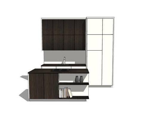 厨柜, 橱柜, 厨房, 现代