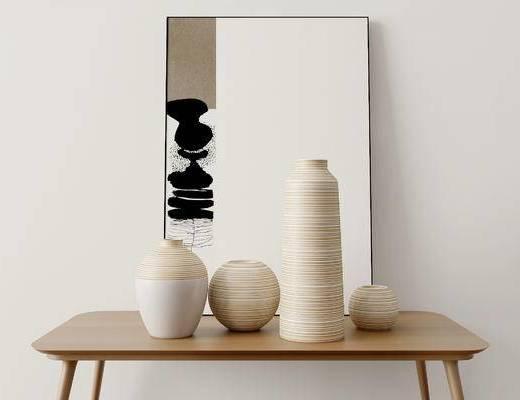 陶瓷器皿, 摆件组合, 现代