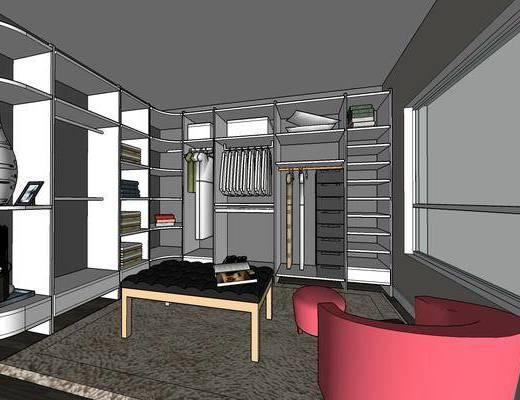 现代家装, 卧室, 客厅, 沙发组合
