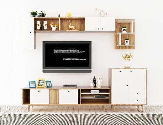 电视柜, 置物架, 现代