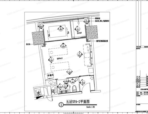 CAD, 施工图, 工装, 洗浴城, 酒店, SPA, 平面图, 立面图