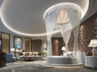 现代酒店套房客房3D模型