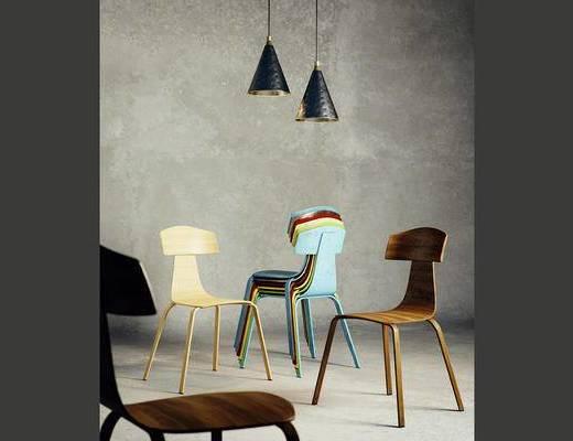 吊灯, 单椅, 现代