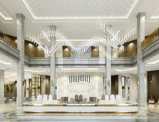 现代售楼部, 吊灯, 壁灯, 沙盘, 椅子, 现代