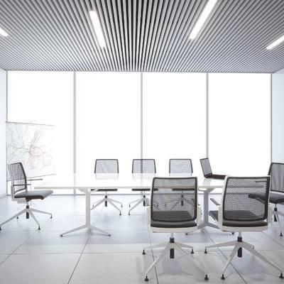 现代会议室, 会议桌, 椅子, 现代
