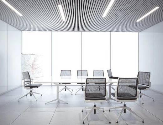 现代会议室, 桌子, 椅子, 现代