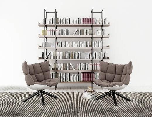 书架, 椅子, 现代