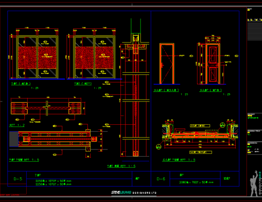 CAD施工图, 工装, 大师, 平面图, 立面图