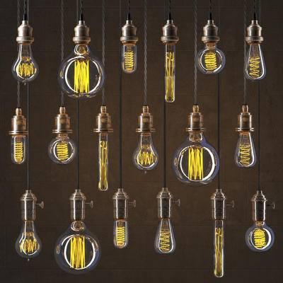 吊灯, 古典, 灯泡