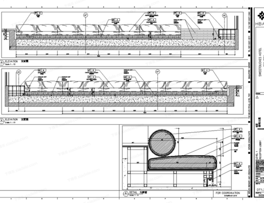 CAD, 施工图, 案例, HBA
