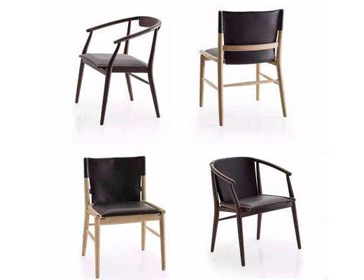 新中式, 椅子, 靠椅, 中式椅子