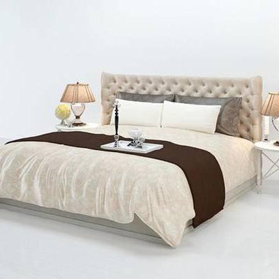 后现代, 床, 双人床, 下得乐3888套模型合辑