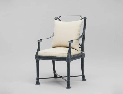 现代简约, 单椅, 美国RestorationHardware