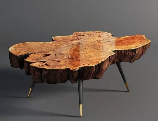 实木边几, 工业风格, 下得乐3888套模型合辑