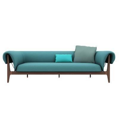 现代多人沙发, 沙发, 椅子