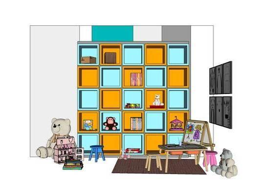 现代, 儿童, 画板, 游乐