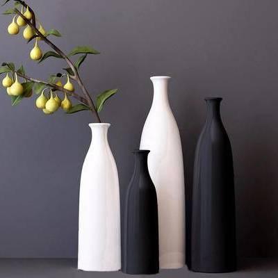 现代, 陶瓷, 花瓶, 摆件