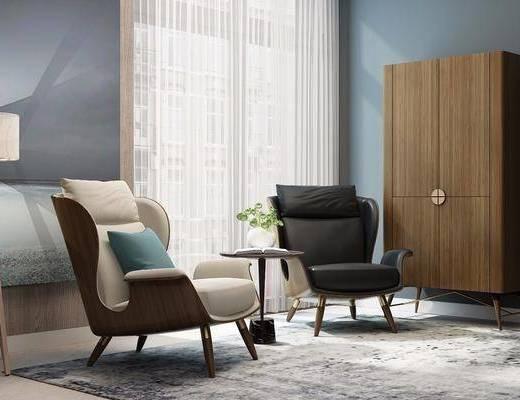现代沙发椅组合, 桌椅组合, 沙发椅