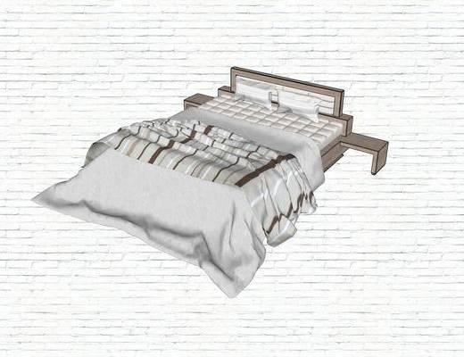 双人床, 现代, 简约, 床具