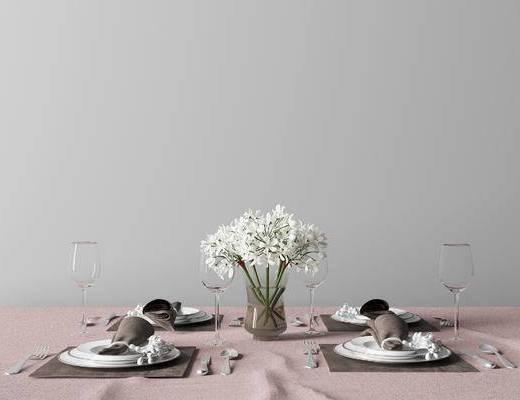 现代餐具, 餐具组合, 餐具